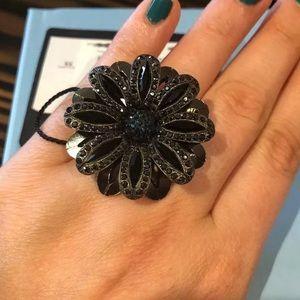 Lanvin Begues Flower Cocktail Ring